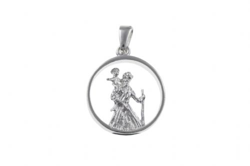 Sterling Silver St. Christopher Including Chain BU2587